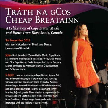 Tráth na gCos – October 2015 – Cheap Breatainn